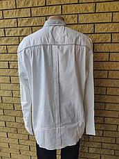Рубашка мужская больших размеров стрейчевая коттоновая брендовая высокого качества BAGARDA, Турция, фото 3