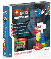 Светящийся конструктор LIGHT STAX с LED подсветкой Creative 4в1 с датчиком звука LS-S12012