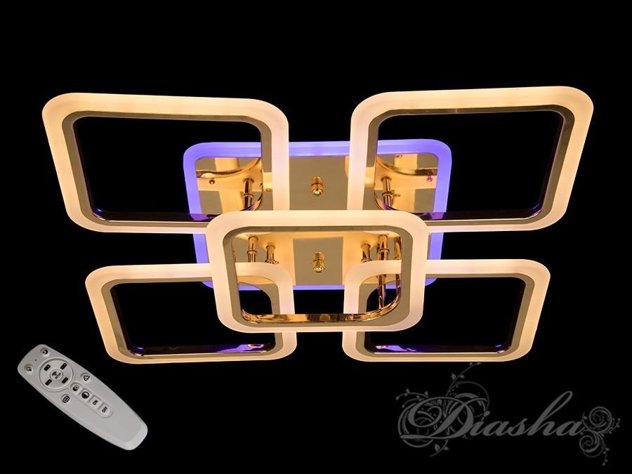 Светодиодная потолочная люстра A8060/4+1G LED 3color dimmer