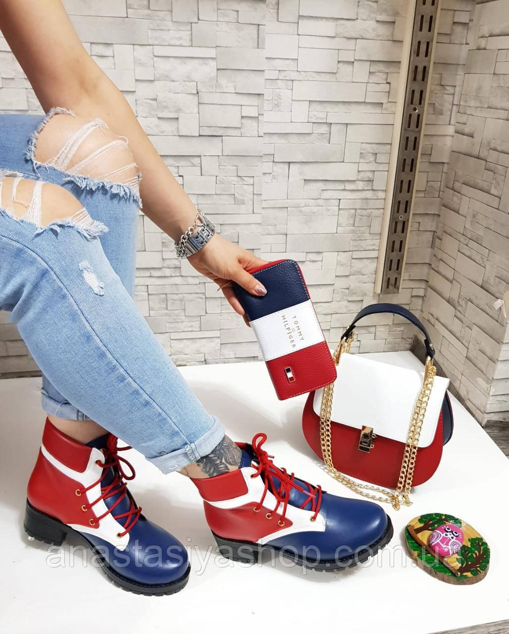 Стильные женские ботинки из эко-кожи.