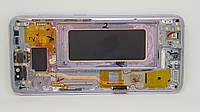Дисплейный модуль б/у с трещинкой Samsung Galaxy S8 G950 GH97-20457C Фиолетовый оригинал Amoled