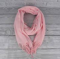 Демисезонный тонкий кашемировый шарф, палантин Ozsoy 7180-5 розовый, Турция, фото 1