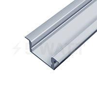 Профиль алюминиевый BIOM врезной ЛПВ7 7х16, анодированный (палка 2м), фото 1