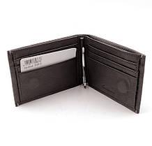 Натуральная кожаный мужской кошелек Cardinal Коричневый (033-D), фото 3
