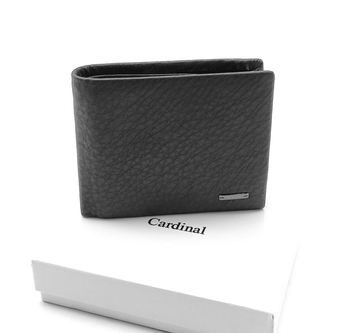Мужской кожаный кошелек Cardinal 12,5 x 10,5 x 2,5 см Черный (c235-a/1)