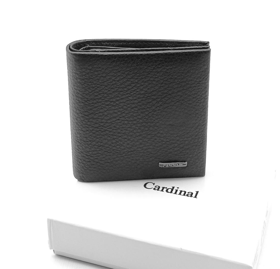 Мужской кожаный кошелек Cardinal 10 x 10 x 2,5 см Черный (c045-b-a/1)