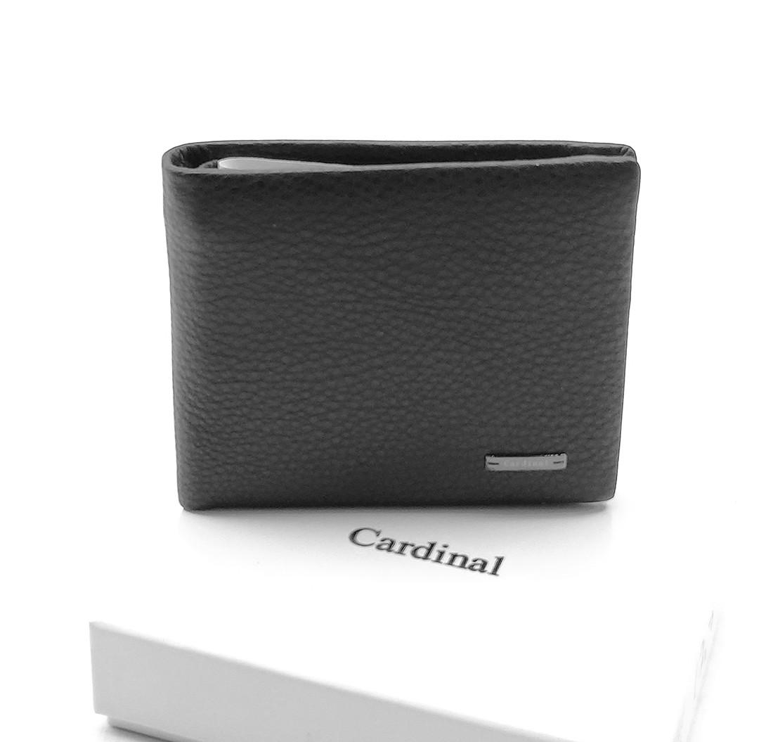 Мужской кожаный кошелек Cardinal 11,5 x 9,5 x 2,5 см Черный (c231-a/1)