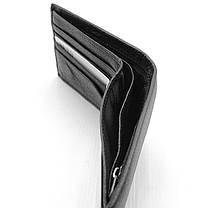 Мужской кожаный кошелек Cardinal 11,5 x 9,5 x 2,5 см Черный (c231-a/1), фото 3