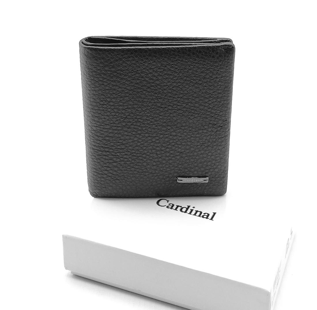 Мужской кожаный кошелек Cardinal 9 x 10,8 x 1,5 см Черный (c044-a/1)