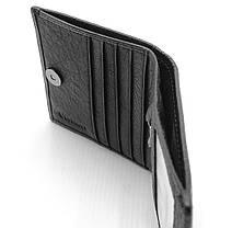 Мужской кожаный кошелек Cardinal 9 x 10,8 x 1,5 см Черный (c044-a/1), фото 3