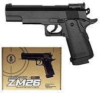 Детский пневматический пистолет ZM26 (Кольт 1911), металлический, фото 1