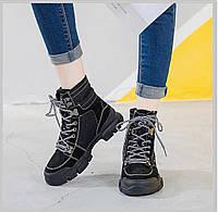 Черные высокие кроссовки женские осенние