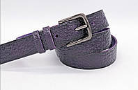 Кожаный женский ремень 30 мм фиолетовый Амбре Italia