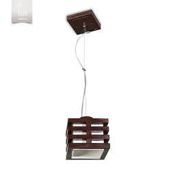 Люстра 1 ламповая, деревянная, спальня, кухня, прихожая 18501