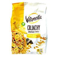 Мюсли хрустящие (Кранчи) Vitanella  Crunchy с бананом и кусочками шоколада Польша 350г