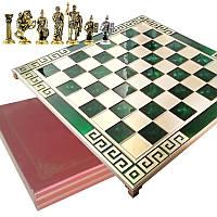 "Шахматы ""Римляне"" 45х45 Marinakis, зеленая доска, металлические"