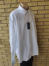 Рубашка мужская больших размеров стрейчевая коттоновая брендовая высокого качества  TOMMY HILFIGER, Турция, фото 2