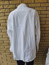 Рубашка мужская больших размеров стрейчевая коттоновая брендовая высокого качества  TOMMY HILFIGER, Турция, фото 3