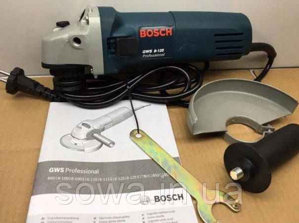 ✔️ Болгарка BOSCH GWS 8-125 ( 850 Вт )