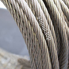 Трос из нержавеющей стали Ø 2 мм (50 метров/моток) | Канат з нержавіючої сталі для насоса