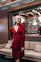 Платье « Инга» Размер 42-44, 46-48. Цвет красный , синий, зелёный , пудра , серый , графит , кемел (20053)
