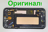 Дисплейный модуль б\у с рамой Samsung Galaxy A7 2017 Duos A720 GH97-19723A Amoled