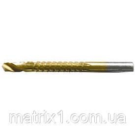 Сверло-фреза, 6 мм, универсальное, нитридтитановое покрытие, цилиндрический хвостовик// MTX