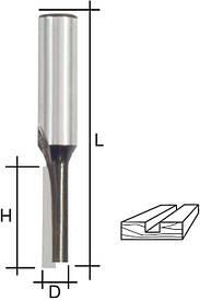 Фреза пазова пряма з одним лезом, DxHxL = 5х13х52 мм FIT