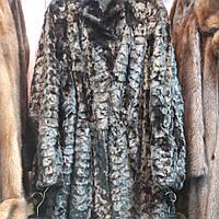 Красивая норковая шуба черная натуральная норка 46 48 размер на кулиске по талии лобики в кредит обмен сток, фото 1