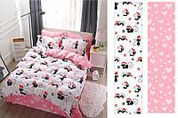 Семейный комплект постельного белья сатин (12489) TM КРИСПОЛ Украина 100% хлопок