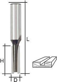 Фреза пазова пряма з двома лезвиемя, DxHxL = 12х20х58 мм FIT