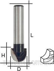 Фреза пазова галтельна, DxHxL = 8х6х44 мм FIT