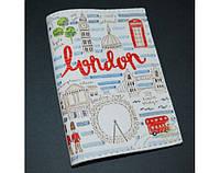 Эксклюзивная обложка для паспорта/загранпаспорта ReD Прогулка по Лондону, экокожа