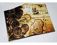 Эксклюзивная обложка холдер для паспорта ReD Золотые монеты, экокожа
