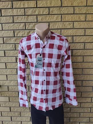 Рубашка мужская коттоновая стрейчевая брендовая высокого качества  MODENA, Турция, фото 2