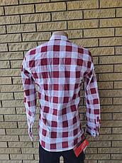 Рубашка мужская коттоновая стрейчевая брендовая высокого качества  MODENA, Турция, фото 3