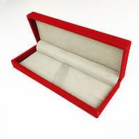 Футляр подарочный для 2-х ручек Красный бархат 17,5*6,3*3 см №8729