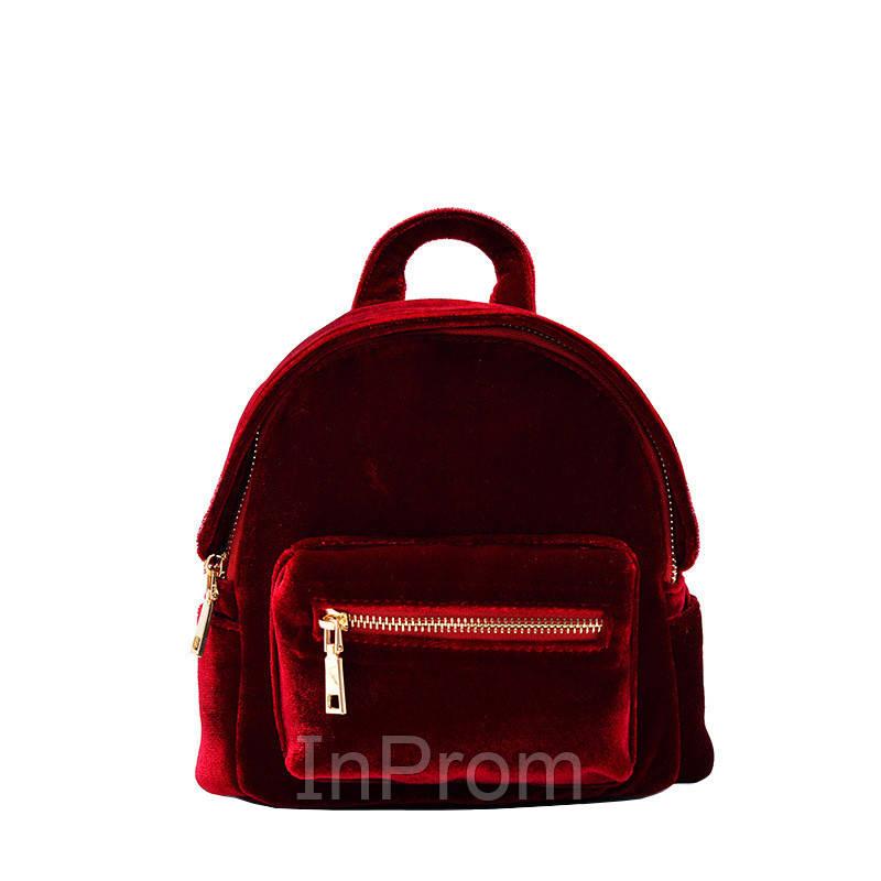 Рюкзак Yvonne Velours Mini Red