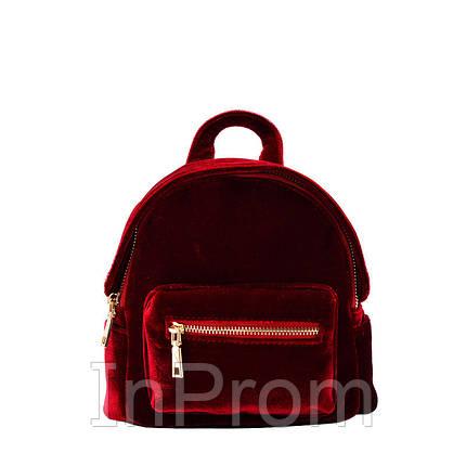 Рюкзак Yvonne Velours Mini Red, фото 2