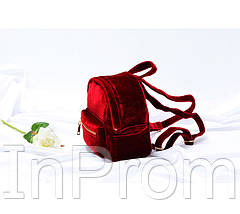 Рюкзак Yvonne Velours Mini Red, фото 3