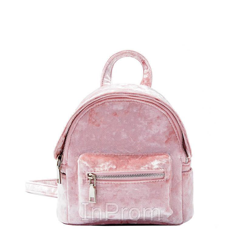 Рюкзак Yvonne Velours Mini Pink