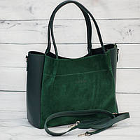 Женская замшевая сумка Guess (Гесс), зеленая ( код: IBG162G1 )