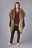 Удлиненная зимняя куртка парка, ТМ Моне р. 122, 128,134, 146, 152, 158, 164, фото 5