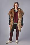 Зимова куртка подовжена парку, ТМ Моне р. 122, 128,134, 146, 152, 158, 164, фото 5