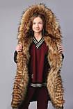 Зимова куртка подовжена парку, ТМ Моне р. 122, 128,134, 146, 152, 158, 164, фото 6