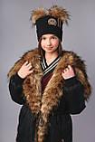 Удлиненная зимняя куртка парка, ТМ Моне р. 122, 128,134, 146, 152, 158, 164, фото 7