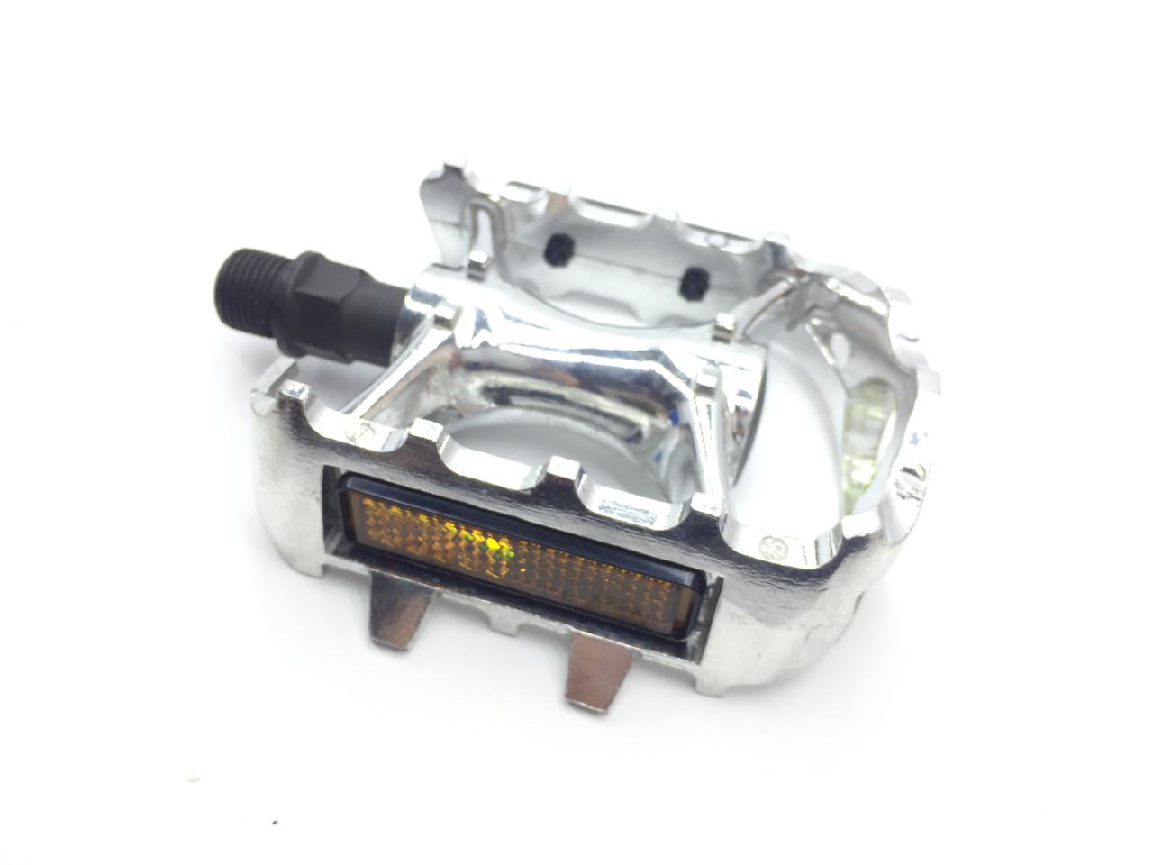"""Педали X17 MTB 9/16"""", алюм. литая рамка, с длинной осью, серебр."""