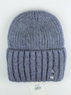 Женская шапка с отворотом Flirt Персия One Size джинс, фото 2