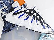 Мужские кроссовки Adidas Yeezy 451 Black White Blue, фото 2