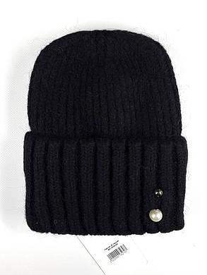 Женская шапка с отворотом Flirt Персия One Size черная, фото 2